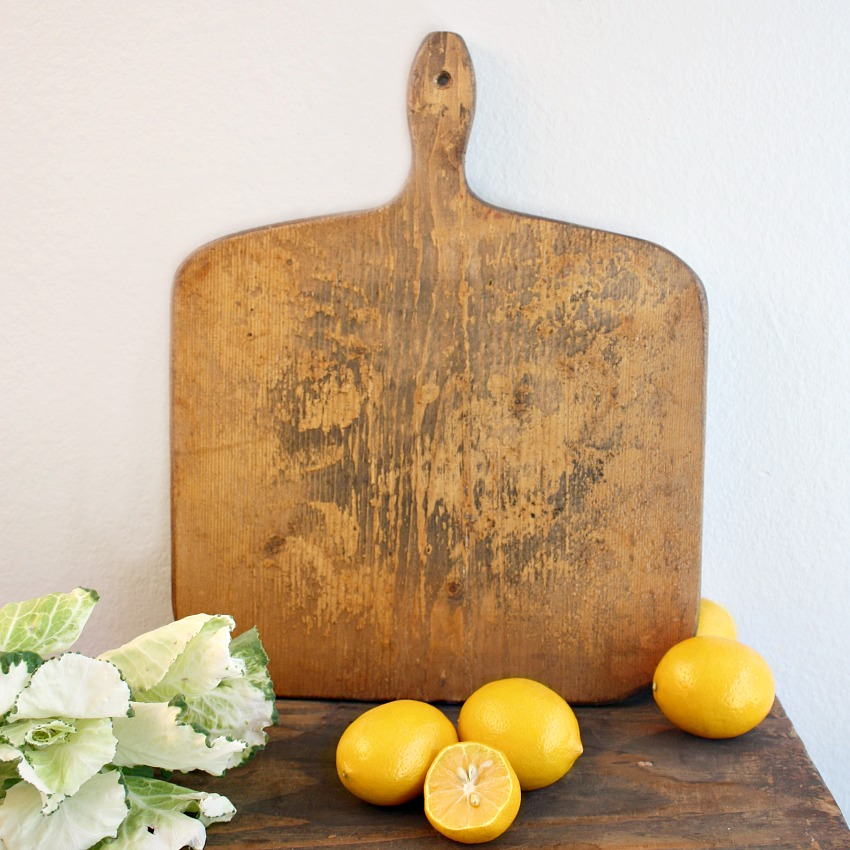Country Cutting Board Golden Mustard Paint