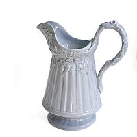Antique Light Blue Acorn Pitcher
