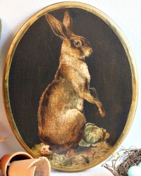 Limited Edition French Country Hare Wall Plaque Noir