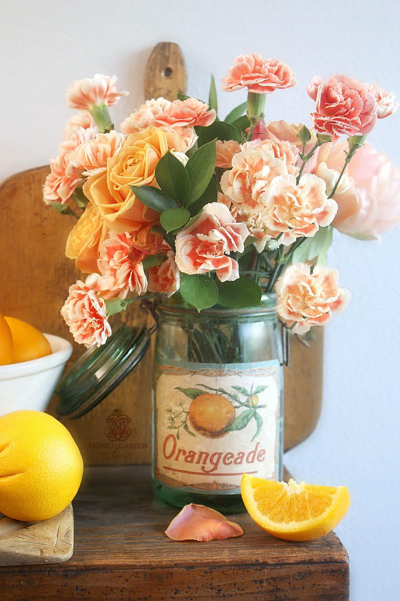 Vintage French Canning Jar Orangeade