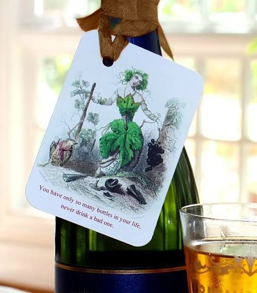 Set of Six FrenchGardenHouse Wine Gift Tags