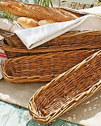 Antique French Hotel Handwoven Banneton Baguette Bread Basket 33""