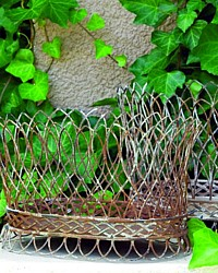 French Country Wire Basket Set of 2