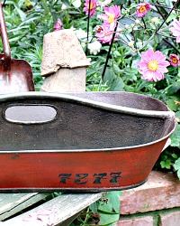 Antique French Metal Industrial Garden Tote Carrier