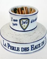 French Stoneware J & G Pyrogen Match Striker