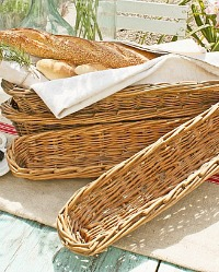 Antique Handwoven French Hotel Banneton Baguette Bread Basket 33""