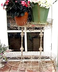 French Wire Flea Market Plant Stand