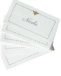 Gilded Bee Place Cards