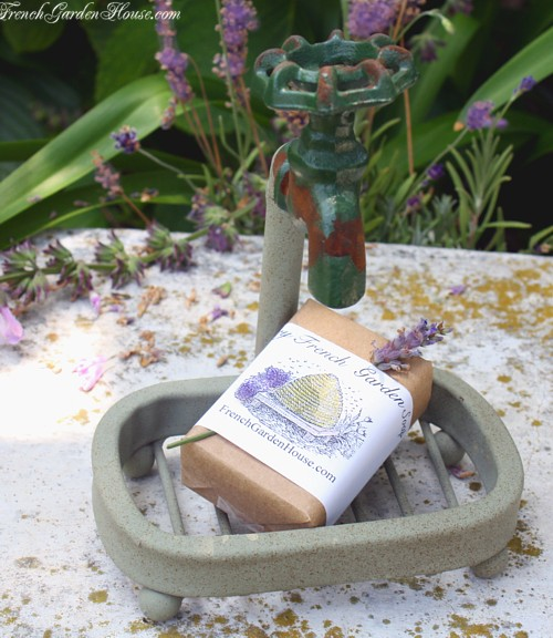 Gardener's Soap Dish and Organic Soap Gift Set