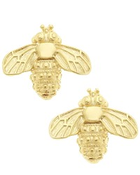 Gold Plated French Abeille Stud Earrings
