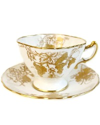 Vintage Hammersley Hand Painted Gilt Teacup