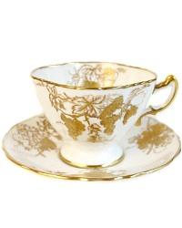 Vintage Hammersley Hand Painted Gilt Teacup