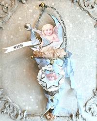 Parisian Atelier Angel Glass Glitter Favor Gift Cone