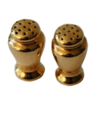 Gold Porcelain Salt & Pepper Shaker Set