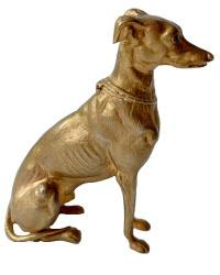 Fabulous Large Antique Greyhound Inkwell