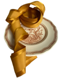 Golden Glow Satin French Wired Ribbon