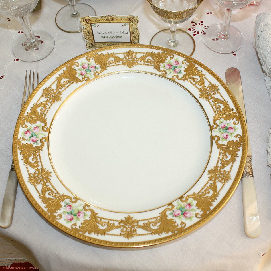 Incredible Antique Minton Gold Hand Painted Dinner Plate
