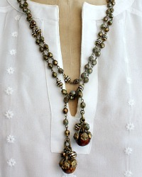 Georgia Hecht Gold Lariat Necklace