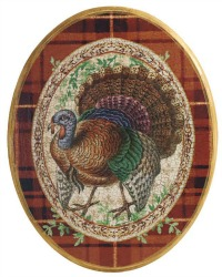 Limited Edition French Country Turkey Wall Plaque