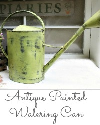 Antique Green Paint Watering Can
