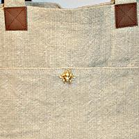 All-day Natural Linen Tote Bag Abeille