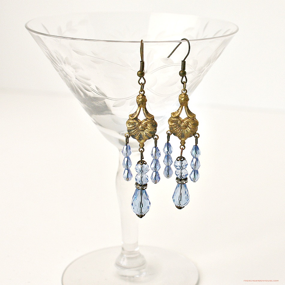 L'Heure Blueu One of a Kind Chandelier Earrings
