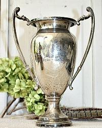 Large 1936 Vintage Silver Plate Trophy