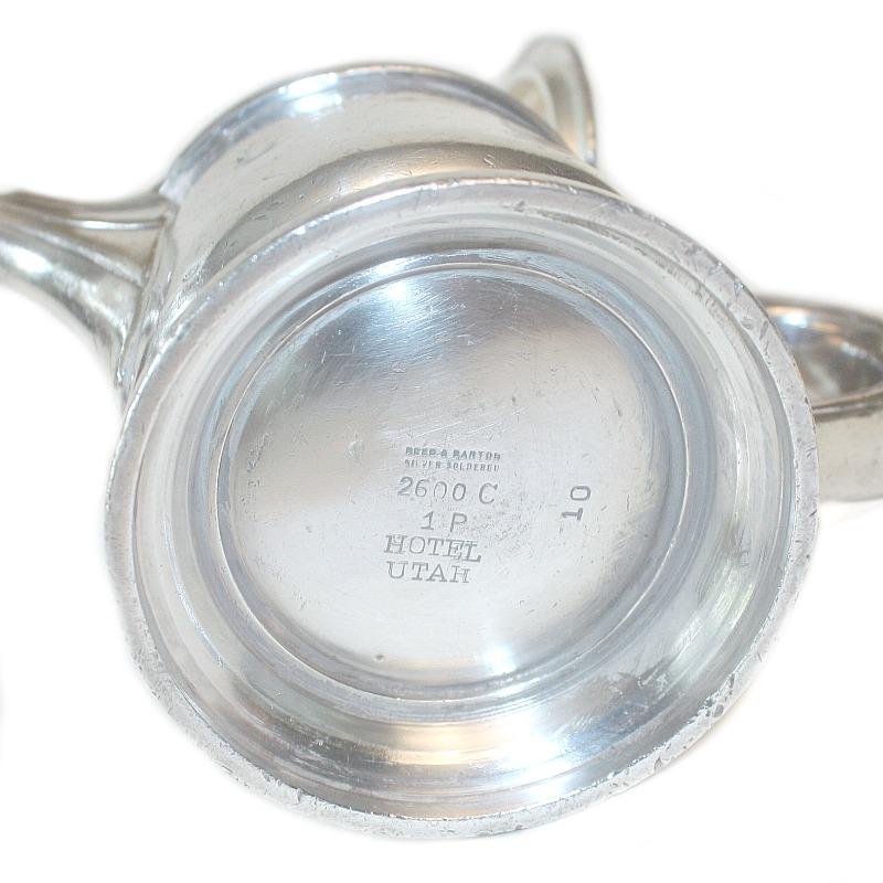 Vintage Hotel Silver Tea Pot Hotel Utah