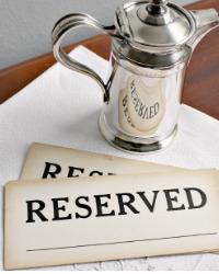 Vintage Hotel or Restaurant RESERVED Sign