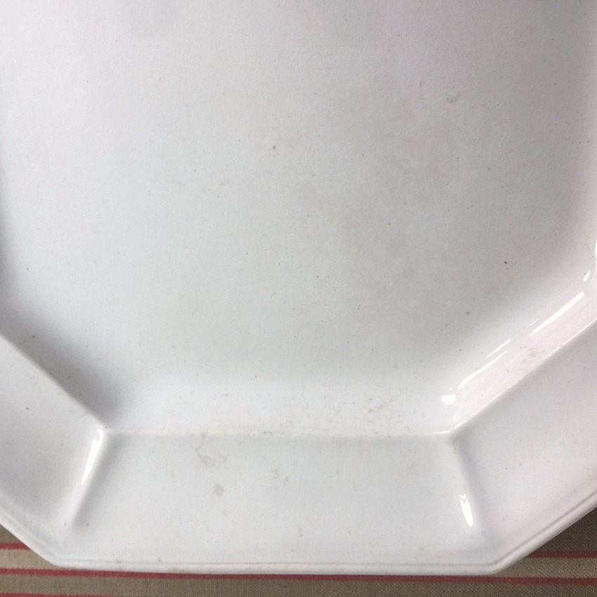 Large 19th Century White Ironstone Platter