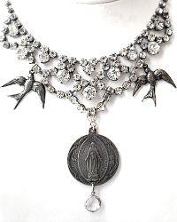 Tara Gasparian Sacred Virgin Mary One of a Kind Necklace
