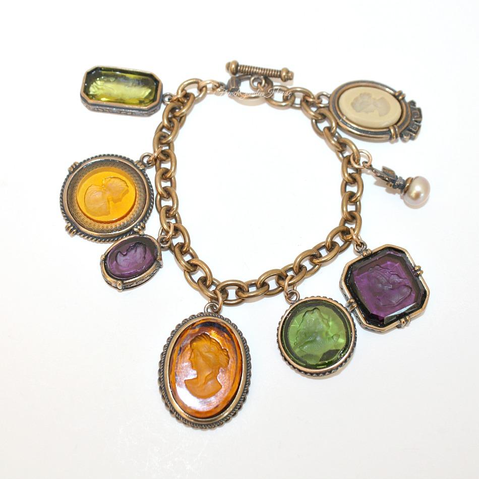 Extasia Jewel Intaglio Portia Charm Bracelet