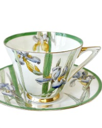 Vintage Royal Doulton Deco Iris Teacup and Saucer Set