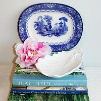 Early 19th Century Ironstone Shell Relish Serving Dish