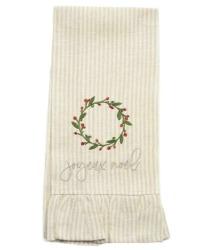 European Linen Joyeux Noel Towel