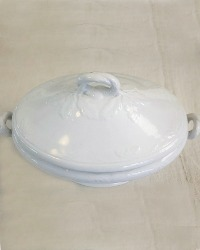 19th Century Ironstone Tureen with Lid Foliate