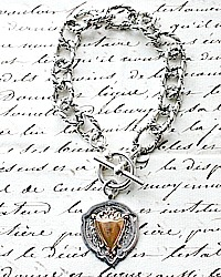 KDL Antique Sterling Watch Fob Bracelet