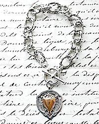 Antique Sterling Watch Fob Bracelet