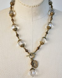 Georgia Hecht Large Cut Crystal Amour Necklace