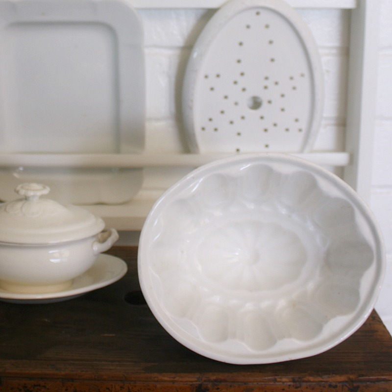 Antique 19th Century Ironstone Jelly or Blanc Mange