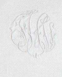 Estate Large Pique White Monogrammed Guest Towel FHI