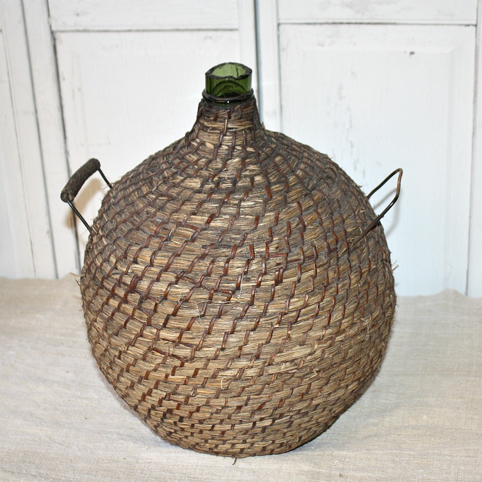 Antique French Large Provence Demijohn Bottle Dame Jeanne