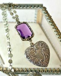 Georgia Hecht Lavender Dreams Pendant Necklace