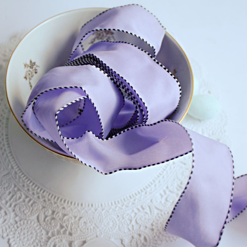 Provence Lavender French Wired Grosgrain Ribbon