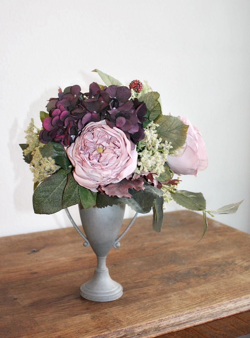 Lavender Rose and Purple Hydrangea Trophy Urn