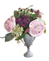 25% OFF-Lavender Rose and Purple Hydrangea Trophy Urn