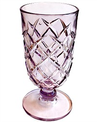 Antique Lavender Purple Glass Celery Vase