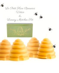 Le Petit Hive Bee Farm Beeswax Candles Set of 4