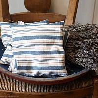 Antique French Ticking Lavender Sachet Light Blue Stripe