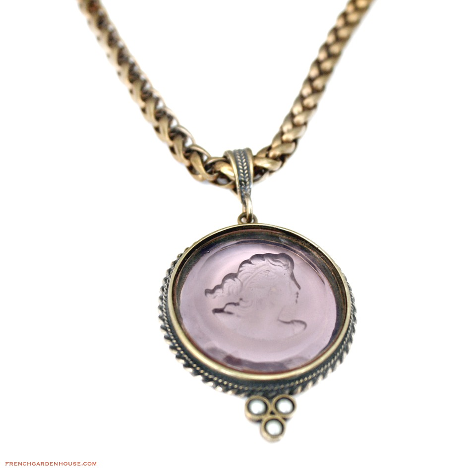 Extasia Lilac Intaglio Statement Necklace